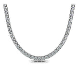Riviera Round Diamond Neclace In 14K White Gold