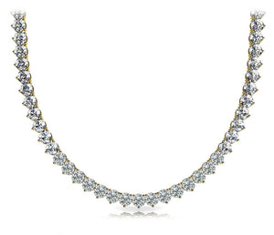 Riviera Round Diamond Necklace In 14K Yellow Gold
