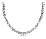 Riviera Round Diamond Necklace In 14K White Gold