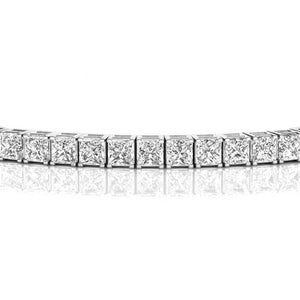 4 CT. TW. Moissanite Princess Tennis Bracelet In 14K White Gold