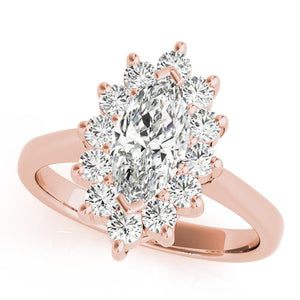 Halo Marquise 14K Rose Gold Engagement Ring