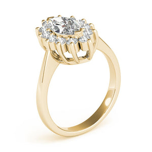 Halo Marquise 14K Yellow Gold Engagement Ring