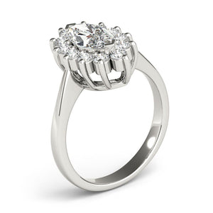 Halo Marquise 14K White Gold Engagement Ring