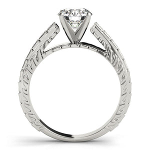 Vintage Solitaire Round Platinum Engagement Ring