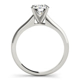 Solitaire Round Platinum Engagement Ring