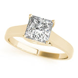 Solitaire Princess 14K Yellow Gold Engagement Ring