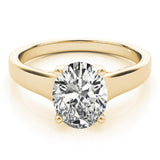 Solitaire Oval 14K Yellow Gold Engagement Ring