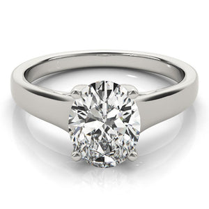 Solitaire Oval Platinum Engagement Ring