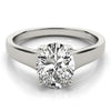 Solitaire Oval 14K White Gold Engagement Ring
