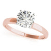 Solitaire Round 14K Rose Gold Engagement Ring