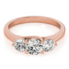 Three-Stone Round 14K Rose Gold Engagement Ring