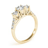 Three-Stone Round 14K Yellow Gold Engagement Ring