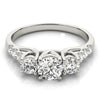 Three-Stone Round Platinum Engagement Ring