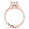 Solitaire Princess 14K Rose Gold Engagement Ring