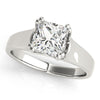 Solitaire Princess 14K White Gold Engagement Ring