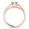 Four-Prong Solitaire Round 14K Rose Gold Engagement Ring