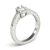 Four-Prong Vintage Oval Platinum Engagement Ring