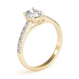Accented Solitaire Oval 14K Yellow Gold Engagement Ring