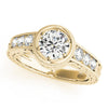 Vintage Round 14K Yellow Gold Engagement Ring