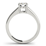 Four-Prong Solitaire Round Platinum Engagement Ring
