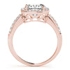 Four-Prong Halo Cushion 14K Rose Gold Engagement Ring