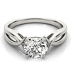 Twist Solitaire Round Platinum Engagement Ring