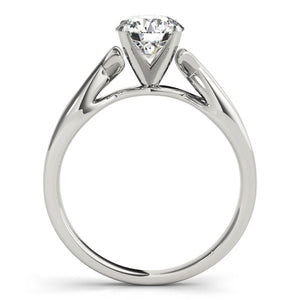 Twist Solitaire Round 14K White Gold Engagement Ring