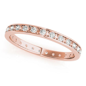 Eternity Round 14K Rose Gold Band