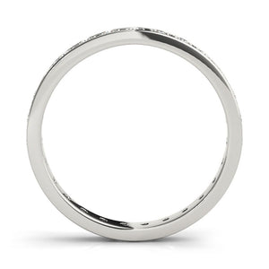 Eternity Round 14K White Gold Band