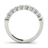 9-Stone Band Round 14K White Gold