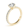 Accented Solitaire Round 14K Yellow Gold Engagement Ring