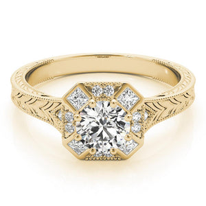 Vintage Eight-Prong 14K Yellow Gold Engagement Ring