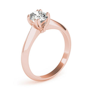 Solitaire Oval 14K Rose Gold Engagement Ring