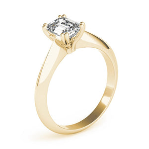 Emerald Solitaire 14K Yellow Gold Engagement Ring