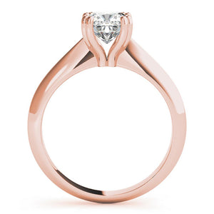 Solitaire Cushion 14K Rose Gold Engagement Ring