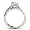 Solitaire Cushion Platinum Engagement Ring