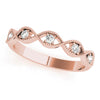 Stackable Round 14K Rose Gold Band