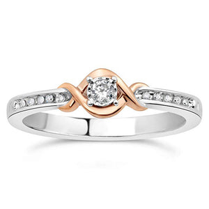 Bound Souls Diamond Promise Ring In Sterling Silver And 10K Rose Gold