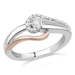 Everlasting Passion  Diamond Promise Ring In Sterling Silver & 10K Rose Gold