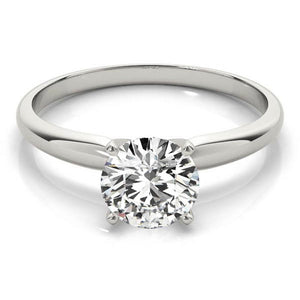 Four-Prong Solitaire Round 14K White Gold Engagement Ring