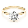 Six-Prong Solitaire Round 14K Yellow Gold Engagement Ring
