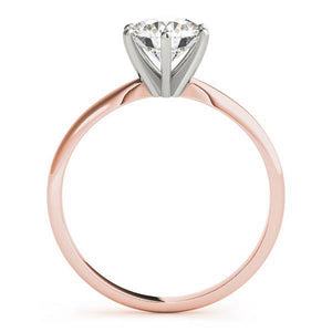 Six-Prong Solitaire Round 14K Rose Gold Engagement Ring