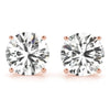 1 CT. TW. 14K Rose Gold Natural Four Prong Studs