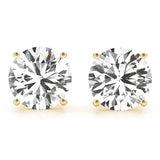 1 CT. TW. 14K Yellow Gold Natural Four Prong Studs
