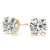 0.50 CT. TW. 14K Yellow Gold Natural Four Prong Studs