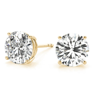 0.50 CT. TW. 14K Yellow Gold Moissanite Studs