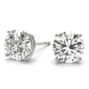 2 CT. TW. 14K White Gold Natural Four Prong Studs