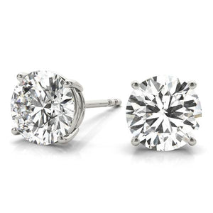 1 CT. TW. 14K White Gold Moissanite Studs