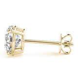 4 CT. TW. 14K Yellow Gold Moissanite Studs