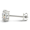 0.50 CT. TW. 14K White Gold Moissanite Studs